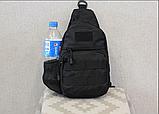 Тактическая, штурмовая, военная, универсальная, городская сумка на 5-6 литров с системой M.O.L.L.E Black (s4), фото 2