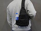 Тактическая, штурмовая, военная, универсальная, городская сумка на 5-6 литров с системой M.O.L.L.E Black (s4), фото 3