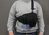 Тактическая, штурмовая, военная, универсальная, городская сумка на 5-6 литров с системой M.O.L.L.E Black (s4), фото 4