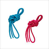 Скакалка Chacott ORIGINAL PRACTICE GYM ROPE (NYLON) 2,5м Цвет: 048.Very Berry, фото 2