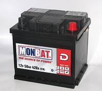 Аккумулятор Monbat 6СТ-50 MF Евро