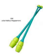 Булавы 36,5 cм Chacott Original Combi цвет Желтый-Мятный