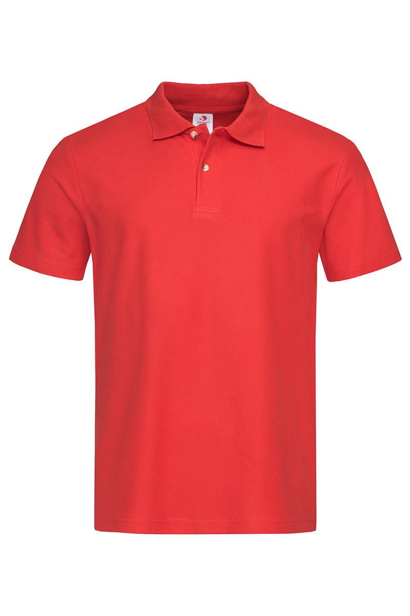 Мужская футболка поло хлопок красная 3000-40