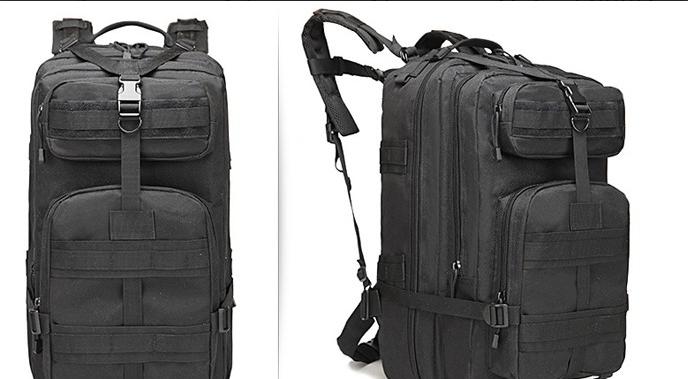 Тактический (городской) рюкзак Oxford 600D с системой M.O.L.L.E 40 л. Black (ta40 черный)