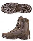 Ботинки MIL-TEC TACTICAL SIDE ZIP BOOTS BROWN, молния YKK (12822109), фото 2
