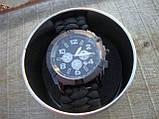 Часы водонепроницаемые армейские MIL-TEC ARMY UHR PARACORD Black (15774002-905) XL, фото 3