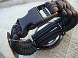 Часы водонепроницаемые армейские MIL-TEC ARMY UHR PARACORD Black (15774002-905) XL, фото 7