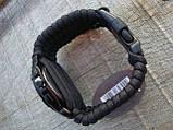 Часы водонепроницаемые армейские MIL-TEC ARMY UHR PARACORD Black (15774002-905) XL, фото 9