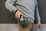 Тактическая универсальная (поясная) сумка - подсумок Mini warrior с системой M.O.L.L.E Olive, фото 7