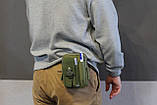 Тактическая универсальная (поясная) сумка - подсумок Mini warrior с системой M.O.L.L.E Olive, фото 9