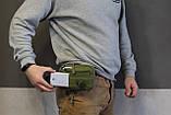 Тактическая универсальная (поясная) сумка - подсумок Mini warrior с системой M.O.L.L.E Olive, фото 10