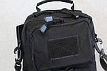 Сумка тактическая, наплечная (Silver Knight) Black 9060 (черная), фото 9