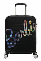 Валіза від American Tourister WAVEBREAKER Barbie M , колір чорний ,47x67x26 см | 64 л | 3.6 кг