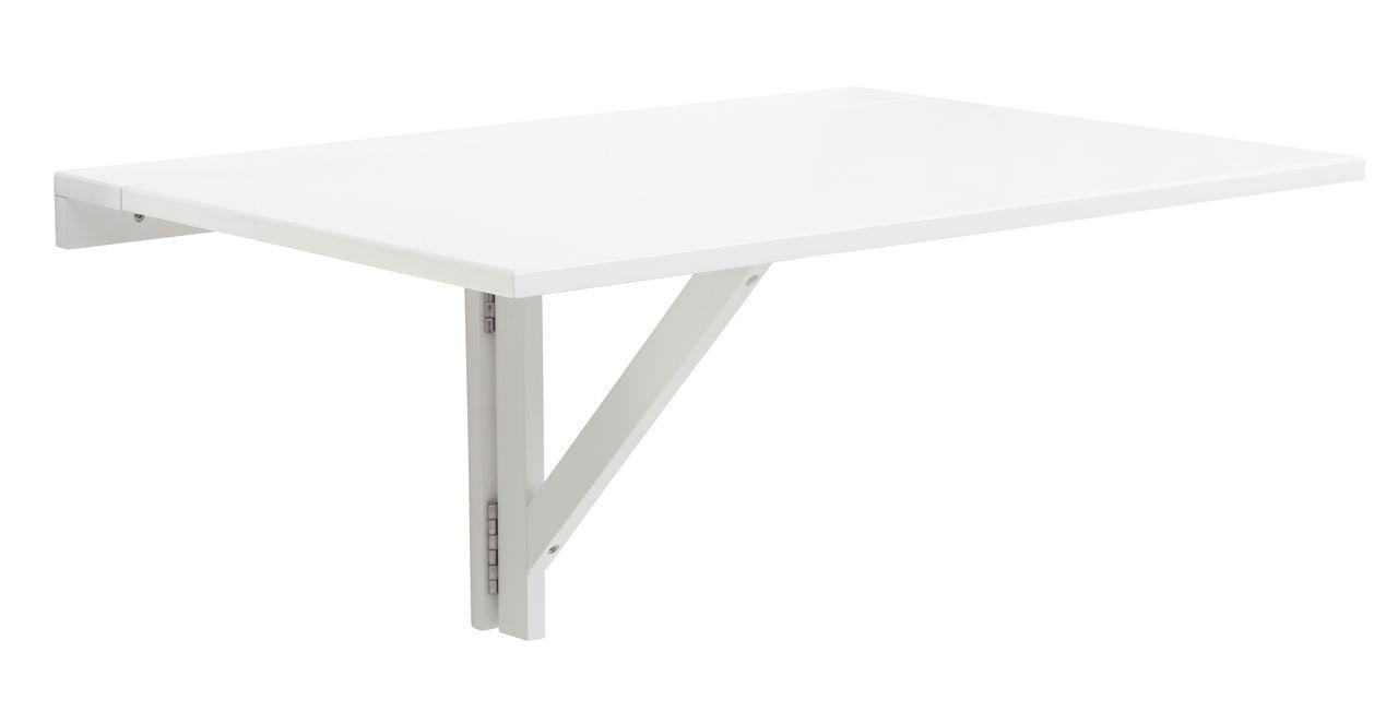Столик белый пристенный складной (для балкона)