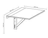 Столик белый пристенный складной (для балкона), фото 4