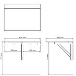 Столик белый пристенный складной (для балкона), фото 5