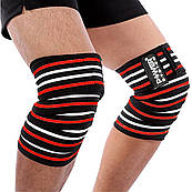 Бинты на колени Power System Knee Wraps PS-3700 Red/Black