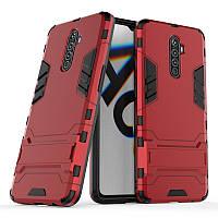Чехол Hybrid case для Realme X2 Pro бампер с подставкой красный