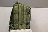 Тактический (городской) рюкзак Oxford 600D с системой M.O.L.L.E olive (ta25), фото 3