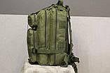 Тактический (городской) рюкзак Oxford 600D с системой M.O.L.L.E olive (ta25), фото 5