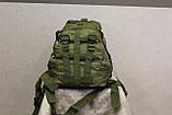Тактический (городской) рюкзак Oxford 600D с системой M.O.L.L.E olive (ta25), фото 6