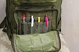 Тактический (городской) рюкзак Oxford 600D с системой M.O.L.L.E olive (ta25), фото 8