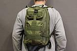 Тактический (городской) рюкзак Oxford 600D с системой M.O.L.L.E olive (ta25), фото 10