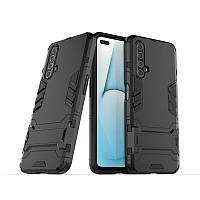 Чехол Hybrid case для Realme X50 / X50m бампер с подставкой черный