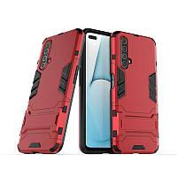 Чехол Hybrid case для Realme X50 / X50m бампер с подставкой красный