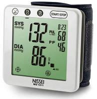 Автоматический планшетный тонометр на запястье NISSEI WS-1011 индикатор аритмии большая манжета 12,5-22,5 см. , фото 1
