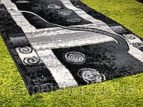 Ковровая дорожка на пол темно-серого цвета 80 см