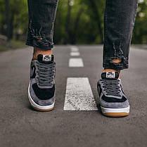 """Кроссовки Nike Air Force Lou Luxury Suede """"Серые/Черные"""", фото 3"""