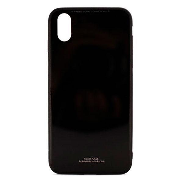 Накладка для iPhone XS Max силікон MiaMI Glass Case Чорний