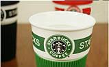 Чашка керамическая кружка Starbucks Green 008, фото 5