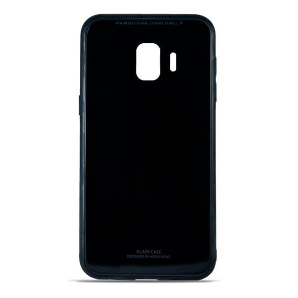 Накладка для Samsung Galaxy J260 J2 Core 2018 силікон MiaMI Glass Case Чорний