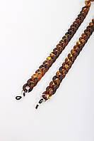 Стильные молодежные цепочки для очков из акрила коричневый