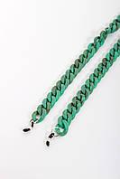Стильные молодежные цепочки для очков из акрила зеленый