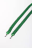Стильные молодежные цепочки для очков из акрила т.зеленый
