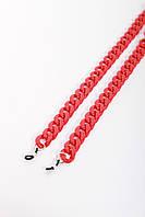 Стильные молодежные цепочки для очков из акрила красный