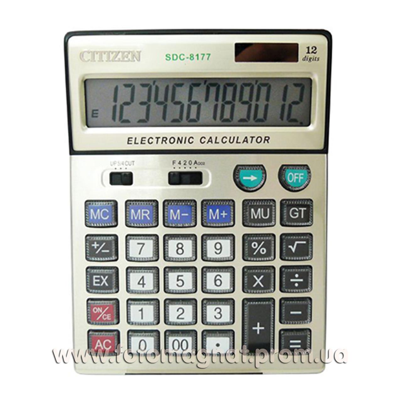 Калькулятор настольный бухгалтерский  CITIZEN 8177