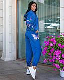 Костюм женский трикотажный брючный с фотопечатью бабочки, 4 цвета, Р-р.42-44,46-48,50-52 Код 1072В, фото 6
