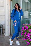 Костюм женский трикотажный брючный с фотопечатью бабочки, 4 цвета, Р-р.42-44,46-48,50-52 Код 1072В, фото 7
