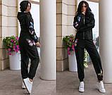 Костюм женский трикотажный брючный с фотопечатью бабочки, 4 цвета, Р-р.42-44,46-48,50-52 Код 1072В, фото 10