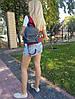 """Рюкзак """"Шайн"""" натуральная кожа, серо-синий матовый, фото 4"""