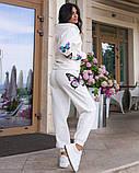 Костюм женский трикотажный брючный с фотопечатью бабочки, 4 цвета, Р-р.42-44,46-48,50-52 Код 1072В, фото 9