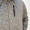 Теплая мужская флисовая толстовка на молнии с капюшоном и карманами M Серый, фото 3