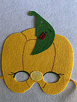 Карнавальная маска Перец желтый.