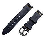 Кожаный ремешок Primolux C052B Steel buckle для часов Samsung Galaxy Watch 3 41mm (SM-R850) - Black, фото 3