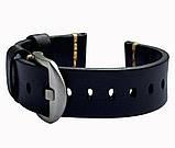 Кожаный ремешок Primolux C052B Steel buckle для часов Samsung Galaxy Watch 3 41mm (SM-R850) - Black, фото 4