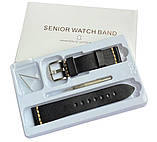 Кожаный ремешок Primolux C052B Steel buckle для часов Samsung Galaxy Watch 3 41mm (SM-R850) - Black, фото 6